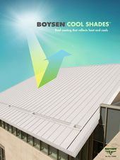 Boysen Cool Shades Is A Heat Reflective Colored Roof Coating That Is Water Based Has Low Voc It Utilizes The Technolo Roof Coating Roof Coatings Heron House