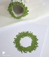 Q-tips Christmas Prints