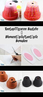 Photo of Tontopffiguren Basteln – Blumentöpfe/tontöpfe Bemalen – #basteln #bemalen #B…