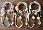 Dog leashes and half bands made of rope www.rudelliebe.de #dog # dogs …