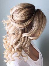 Über 100 schöne Brautjungfernfrisuren halbe Ideen femaline.com / … – #Brautj…