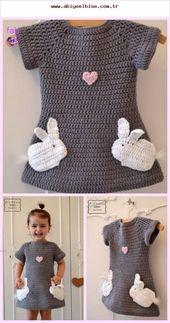 34 Baby Mädchen Kleid Booties Weste Strickjacke Strickmodell   – Coisas para vestir