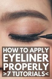 7 incredible tutorials to show you the right way to apply eyeliner correctly