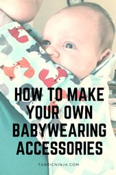 Baby Carrier Got drool? Make your own DIY Suck Pads and protect your baby carrier investment....