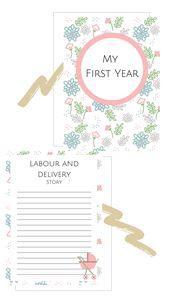 Baby First Year Planner to Download  Pink Theme  Newborn essentials – tarjetas g y m