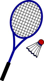Badminton Racquet And Birdie Free Clip Art Badminton Sport Art Projects Sports Art