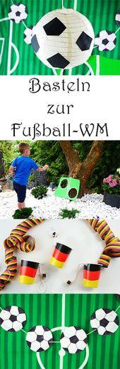 Basteln mit Kindern für die Fußball-Party mit PLAYMOBIL