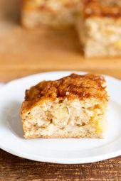 Veganer Apfelkuchen mit Zimt-Vanillepudding  – vegan Desserts / Sweets