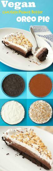 #Vegane Schokoladen-Erdnussbutter-Oreo-Torte. #lovingitvegan #dessert #dairyfree – Xmas