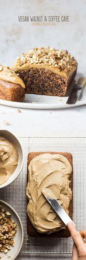 Vegan walnut and coffee cake   – Food