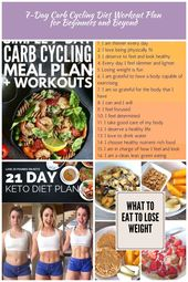 Carb Cycling Schedule | If you're trying to lose weight and want diet plans an…