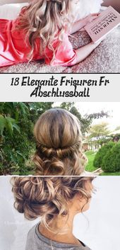 18 elegant hairstyles for prom # prom # elegant # hairstyles #CuteHairstylesDrawings