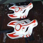 Kitsune mask. Japan mask. Fox mask. Japanese mask