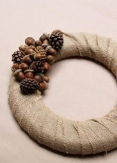 Inspired by a walk in the woods, foraged acorns an…