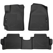 Husky Liners 99681 Weatherbeater Series Custom Fit Front and Second Seat Floor Liner Black