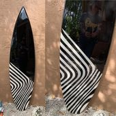 Black and White Surfboard Wall Art / Surf Art / Hawaiian art / Coastal Wall Deco…   – Bathroom ID