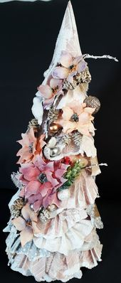 Choinka Scrapbooking Boze Narodzenie Xmas Scrap Tree Holiday Decor Decor Christmas Tree