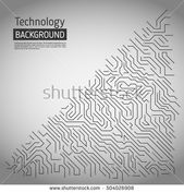 Technological Vector Background Circuit Board Texture Stock Vector (Royalty Free) 504026908