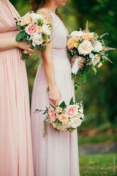 Beautiful Feminine Colors Bridesmaid Wedding Dresses Bridal