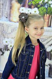 Schokobraune Blume Haarspange Haarspange Baby Mädchen Baby Kleinkinder häkeln Frühling Sommer Herbst Easte