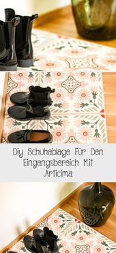 Diy Shoe Rack For The Entrance Area With Articima
