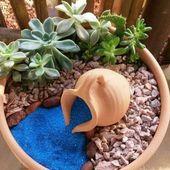 Tendance déco: petit pot de jardin de fleurs succulent bricolage coloré dans un pot   – Gardening