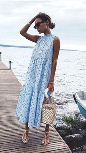 #frauen #fruhling #kleiden #tupfenkleid #kleiden