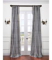 Buy Silver Bell Textured Dupioni Silk Curtains & D…