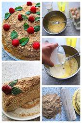 """Torte """"Frühling"""" – Rezept für köstliche russische Schichttorte – Cooking with love"""