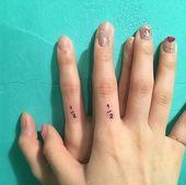 Das innovativste Paar Tattoo auf den Fingern, #fingern #innovativste #tattoo
