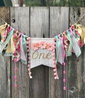Floral 1st Birthday Decor| High Chair Garland| Backdrop| Boho First Birthday| Highchair| Wild one| highchair decor| Boho outfit – DIY