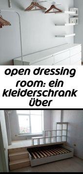 Open dressing room: ein kleiderschrank über kommoden 4