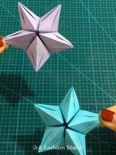 10 Easy Paper Craft Ideas – DIY For Kids – Paper Stars Idea