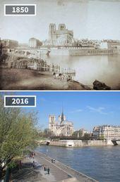 80 photographs avant/après montrant remark le monde a changé au fil du temps