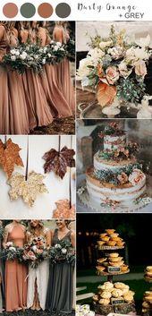 Die Top 10 der Herbsthochzeitsfarben für die Trends von 2019, die Sie lieben werden fall wedding ideas