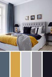 21+ Schöne Schlafzimmer Farbschemata mit Farbkombinationen – #Beautiful #Bedroo… – wohnen und einrichten