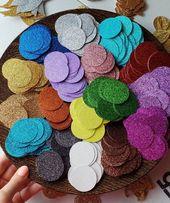 Circle Confetti / Glitter Confetti / Table Confetti / Reunion Decorations / Graduation Decorations /