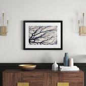 Gerahmtes Poster Baumzweige East Urban Home Format: Rahmen aus Walnussholz, Größe: 60 cm H x 80 cm B