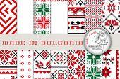 Ethno Digital Paper, Ethnic Patterns, Bulgarian Embroidery,  Chic Pattern, Folk Art,  Ethno Motifs, Boho Style, Boho Chic, Christmas pattern – Embroidery