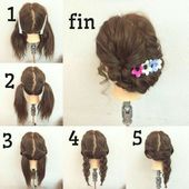 Picked up with braids - Beauty - #Beauty #with # collected #trenzas
