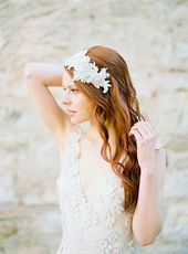 Bridal Headband, Wedding Headpiece, Crystal Headpiece, Lace Headpiece, Bridal Headpiece, Flapper Headpiece, Rhinestone Headband - Style 320