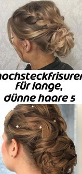 Updos for long, thin hair 5