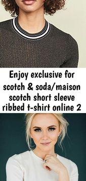 Genießen Sie exklusiv für Scotch & Soda / Maison Scotch Kurzarm Ripp-T-Shirt online 2