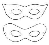 Faschingsmasken Vorlagen knebelmaske masken