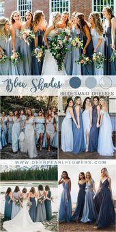 20 besten Schattierungen von Blau Hochzeit Farbideen für 2019, #besten #Blau #bridesmaiddres…