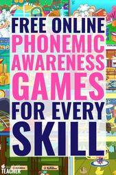 Educational and Appealing Online Phonemic Awareness Games for EVERY Skill