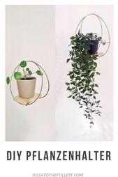 Hoch hinaus: DIY Pflanzentablett