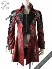 Poisonblack – red men's jacket in Gothic style by Punk Rave. Code: Y-349-red-male – #Code #formen #GothicStil #Menjacke #im