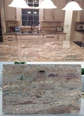 Create A Warm And Inviting Kitchen With Crema Bordeaux Polished Granite Countertops Brown Granite Countertops Granite Countertops Kitchen Granite Countertops