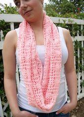 Crochet Infinity Scarf, Shawl, Wrap, Cowl Pattern: The Capri Mobius Wrap Cowl Pattern